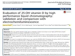 Evaluation of 25OH vitamin D